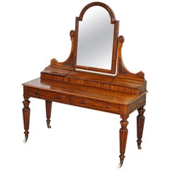 Lovely William IV Mahogany Dressing Table with Gillows Inspired Legs, circa 1830