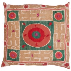 Giant Floor Pillow Made from a Mid-20th Century Samarkand Suzani