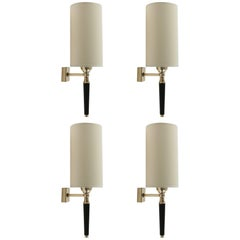 1950s Set of Four Sconces, Maison Arlus, France