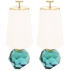 "Pair of Lamps ""Diamante Blu"" by Roberto Giulio Rida"