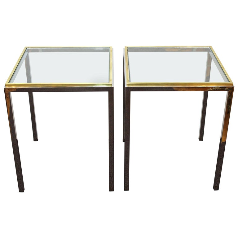 Pair of Chrome Side Tables Attributed to Romeo Rega or Renato Zevi