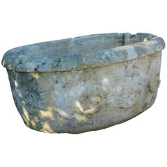 Early 18th Century Italian Stone Tough Basin