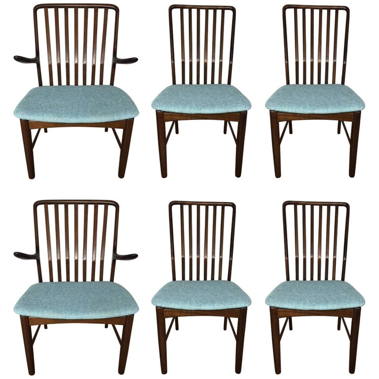 Svend Madsen Set of Six Rosewood Dining Chairs