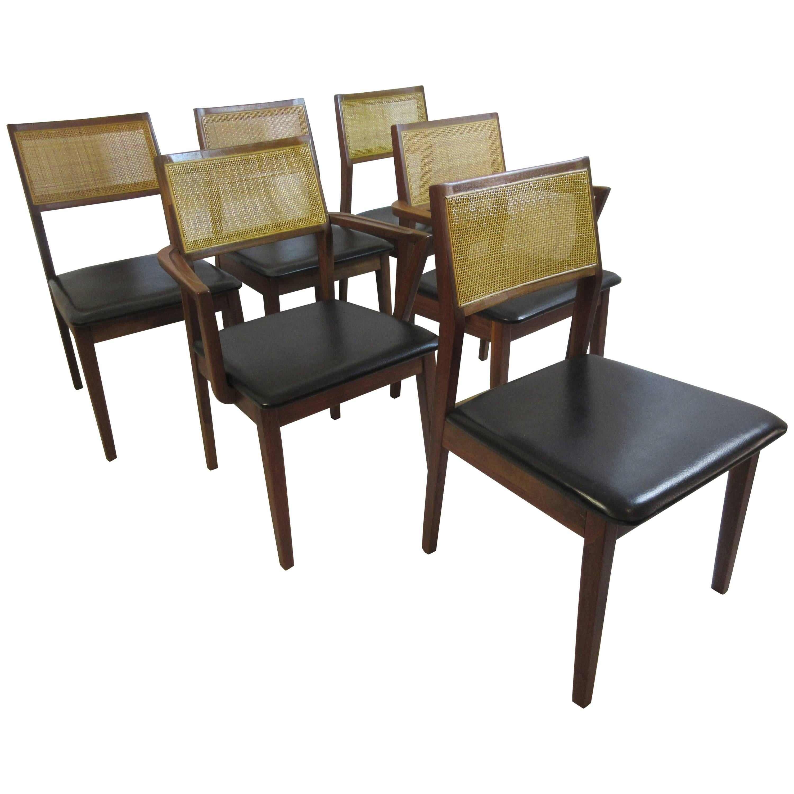 Founders For Thomasville Walnut Jack Cartwright Dining Chairs