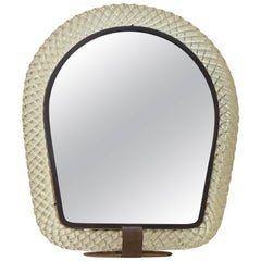 Wonderful Table Mirror Signed Venini