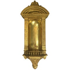 Italian Mid-19th Century Architectural Niche in Carved Giltwood