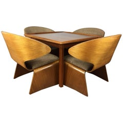 Hans Olsen Bikini Set of Four Chairs and Game Table