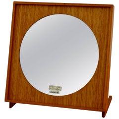 1950s Teak Table Mirror from Glasmäster Markaryd