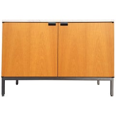 Florence Knoll Cabinet, Oak and Marble