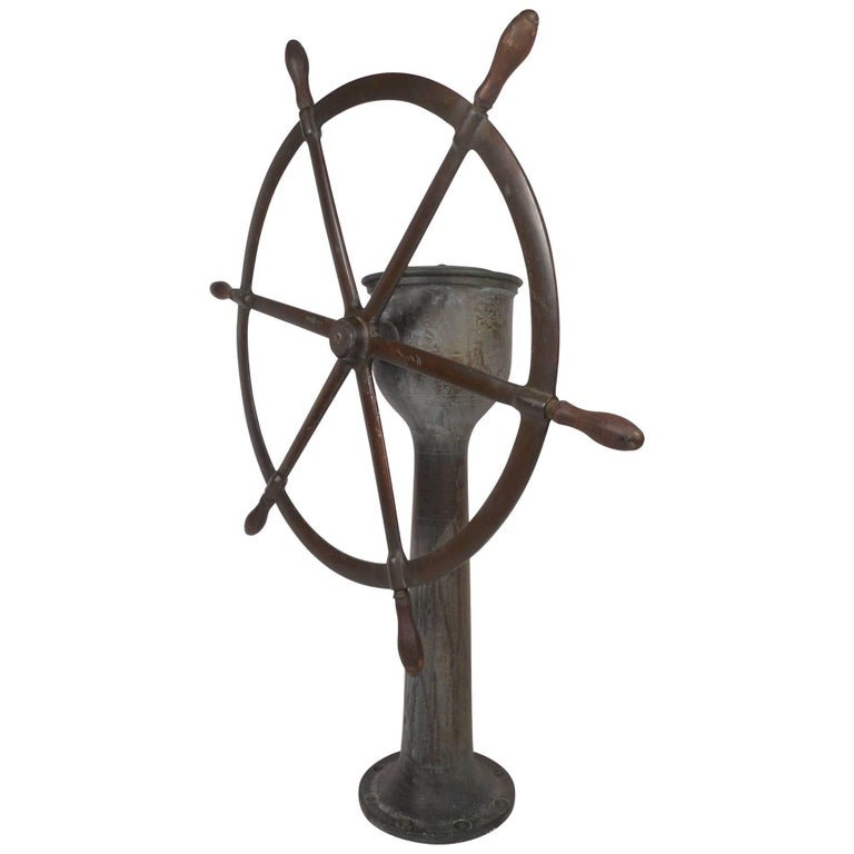 Magnificent Vintage Brass Steering Station by American Engineering Co