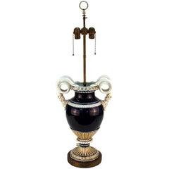 Meissen Snake Urn Table Lamp