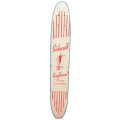 1960s Sidewalk Surfboard Malibu by Champion Longboard Skateboard Deck