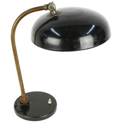 1920s Finely Tooled German Industrial Desk Lamp with Directional Shade
