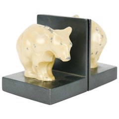 Bauhaus and Early Modernist Abstract Bear Bookends