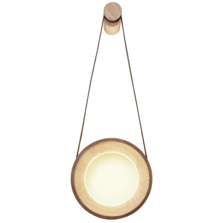Halo Wall Lamp 'DIM' Ashwood