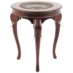 Solid Rosewood Anglo-Indian Elephant Table