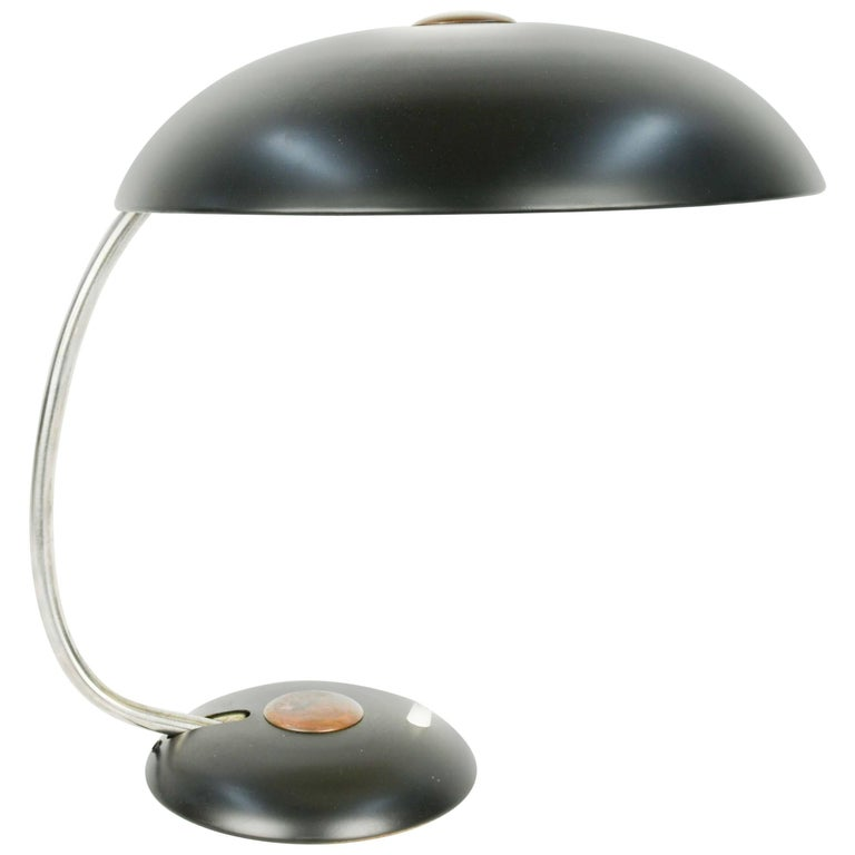 Grand Black Helio Desk Lamp For Sale