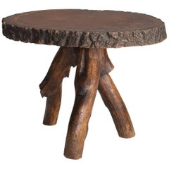 Rustic Tree Stump Table, circa 1870