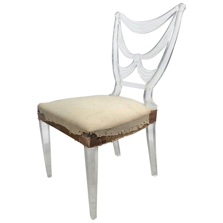 Rare Lucite Chair by Lorin Jackson for Grosfeld House, Art Deco, circa 1939