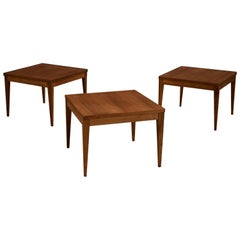 Midcentury Walnut Square End Tables