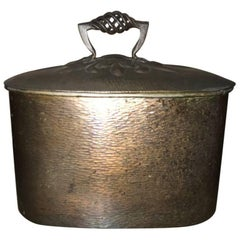 Guild of Handicraft Attributed Arts & Crafts Handmade Copper Bread, Storage Bin