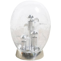Large Mouth-Blown Oval Glass Globe Table Lamp by Doria, Germany, 1970s