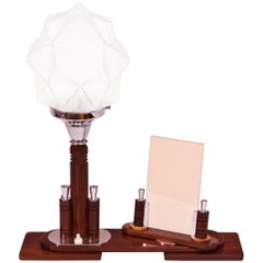 Art Deco Table Lamp with Swivel Photo Frame