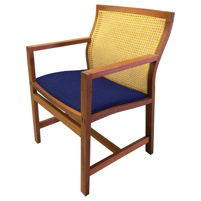 1980s Rud Thygesen and Johnny Sorensen Mahogany King Series Mahogany Armchair For Sale