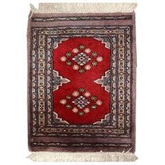 Handmade Vintage Uzbek Bukhara Rug, 1970s, 1C320