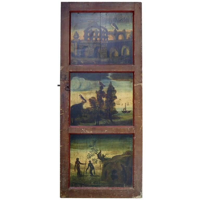 18th Century Italian Painted Chapel Door