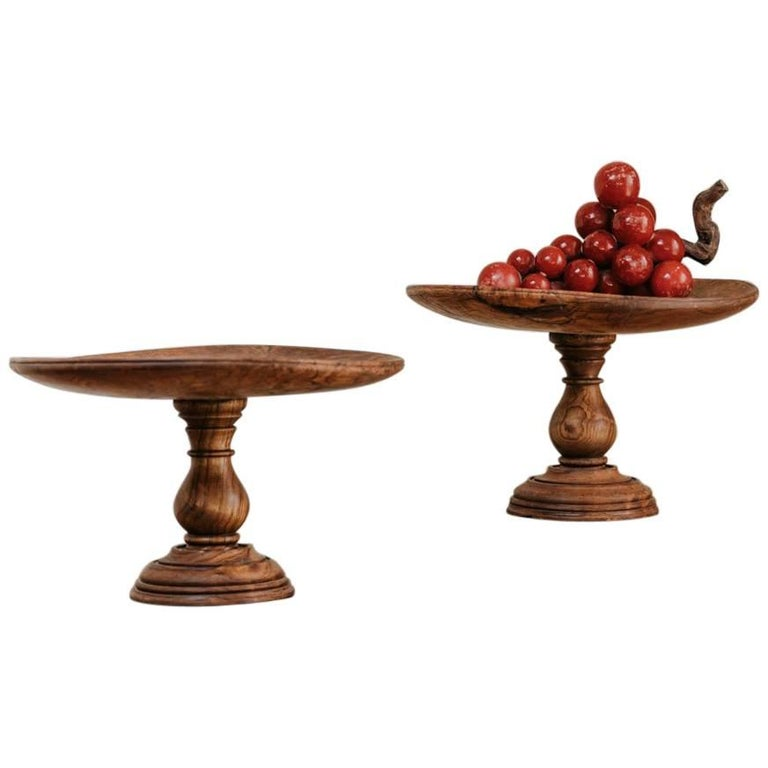 19th Century Pair of Root Chestnut Tazza's For Sale