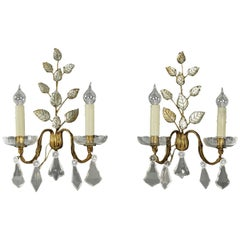 Pair of Gilt Iron Sconces by Maison Baguès, Mid-20h Century, circa 1960