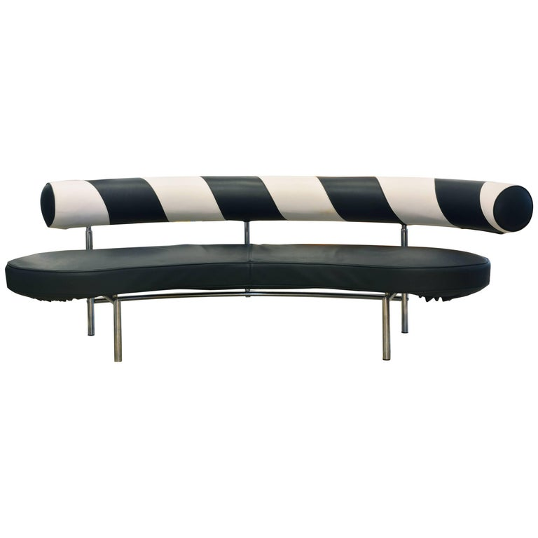 MAX Leather Sofa by Antonio Citterio for Flexform Italy 20th Century Design Icon For Sale
