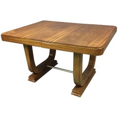 1930s Art Deco Mahogany Dinning Table