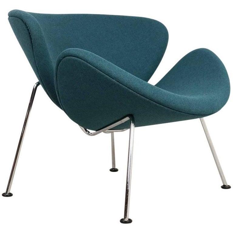 Teal Artifort Orange Slice Chair By Pierre Paulin For