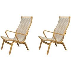Pair of Beech Armchairs by Finn Østergaard
