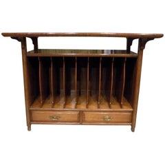 Walnut Late Victorian Period Aesthetic Folio Cabinet