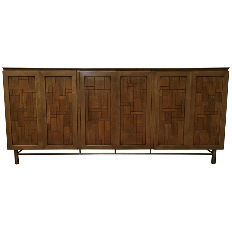 Bert England for Johnson Furniture Travertine Sideboard