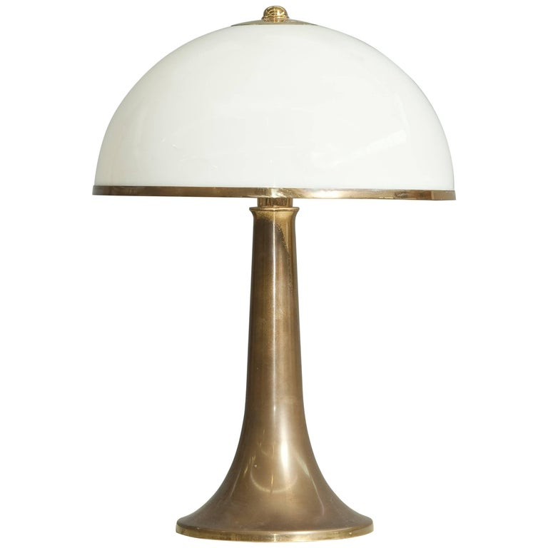Iconic Brass Table Lamp by Gabriella Crespi For Sale