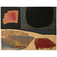 1956 New York School Abstract Collage Mixed-Media