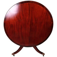 Mahogany Tilt-Top Dining Table Crossbanded in Rosewood