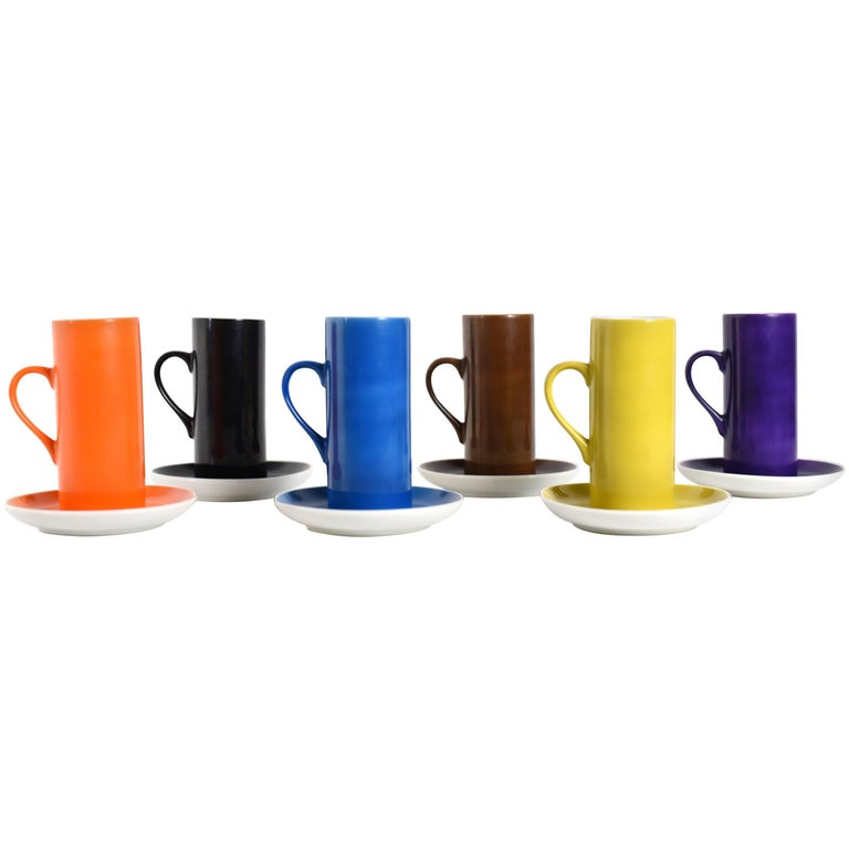 La Gardo Tackett Set of Six Espresso / Demitasse Cups Set by Schmid, 1960s For Sale