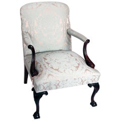 Mahogany Gainsborough Armchair in Chippendale Style