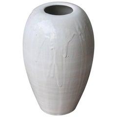 Kasper Würtz Large Tall Vase White Glaze