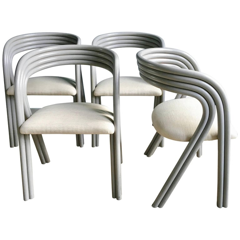 Set of Four Reupholstered Dutch Dining Chairs by Axel Enthoven for Rohé