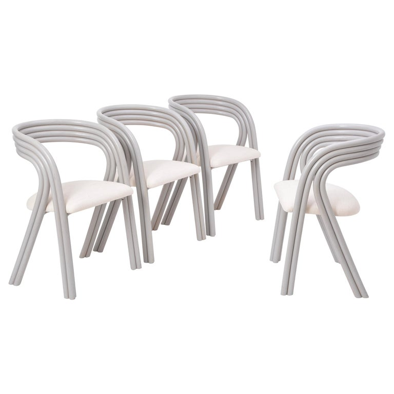 Set of Four Reupholstered Dutch Dining Chairs by Axel Enthoven for Rohé 1