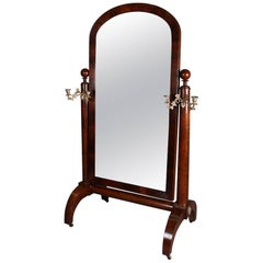 Mahogany Floor Mirrors and Full-Length Mirrors - 54 For Sale at 1stdibs