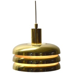 Hans-Agne Jakobsson Brass Cylinder Ceiling Light