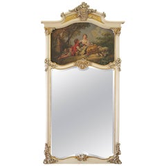 Late 19th Century French Style Trumeau Mirror