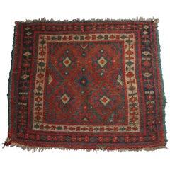 Antique Kurdish Tribal Persian Rug, 19th Century